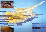Карта Кипра на русском языке с достопримечательностями