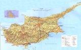 Карта Кипра рельефная