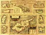 Map of Cyprus year 1584