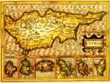 Map of Cyprus year 1610