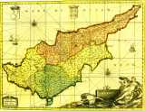 Map of Cyprus year 1705