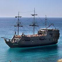 Пиратский корабль Черная Жемчужина на Кипре