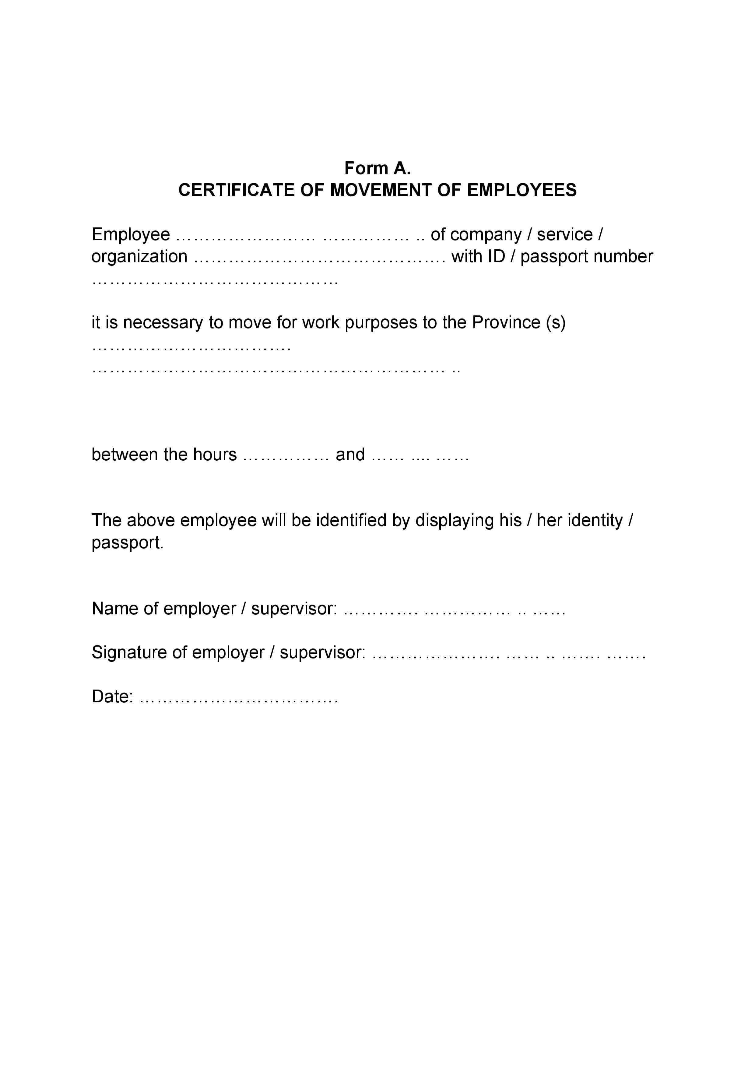 Разрешение от работодателя на английском языке
