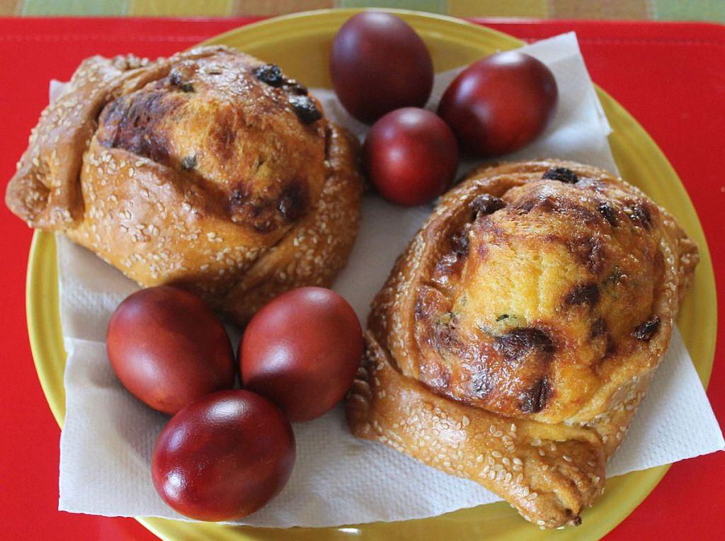 Кипрские пасхальные булочки флаунес