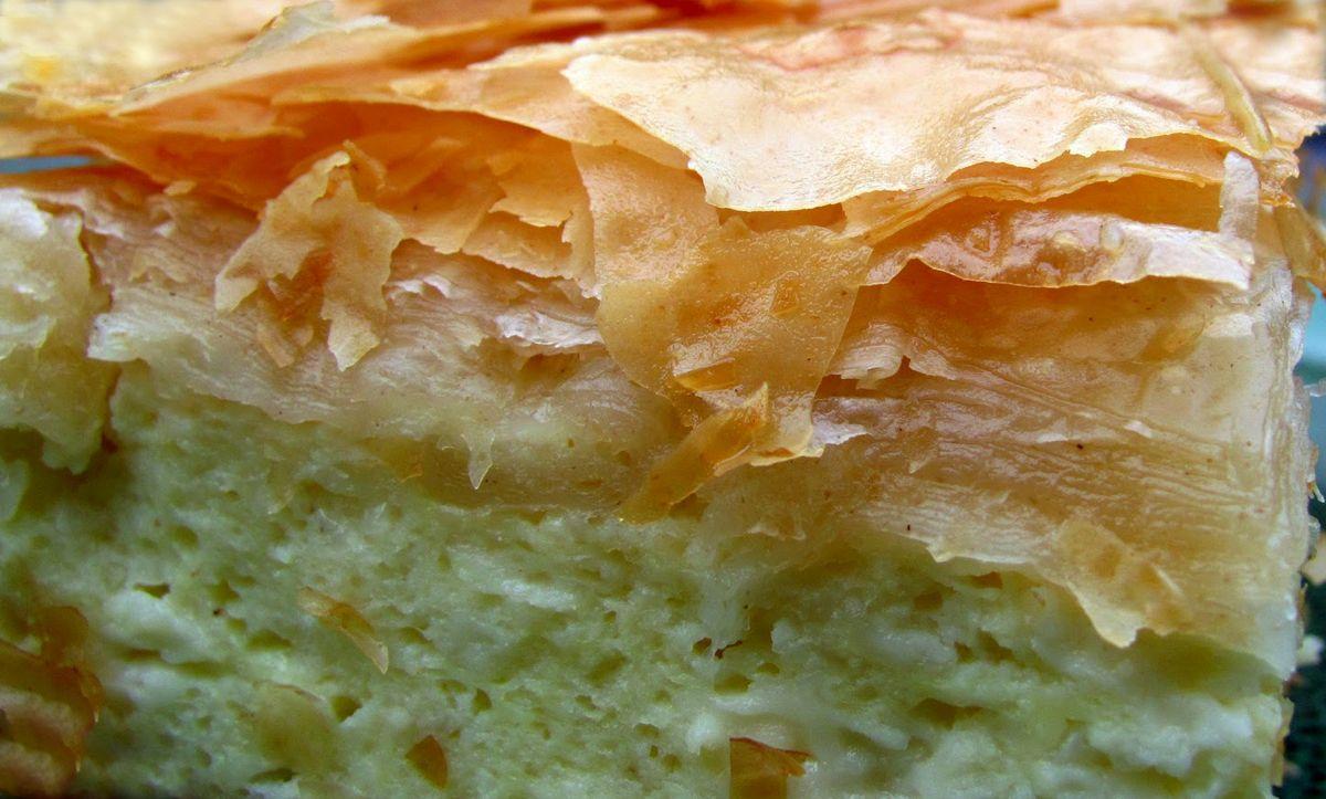 Тиропита - слоеный пирог с сыром