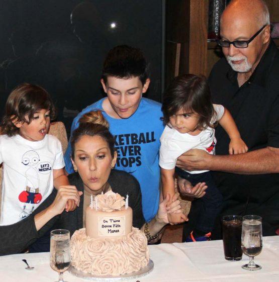 Селин Дион, Рене и семья на дне рождения