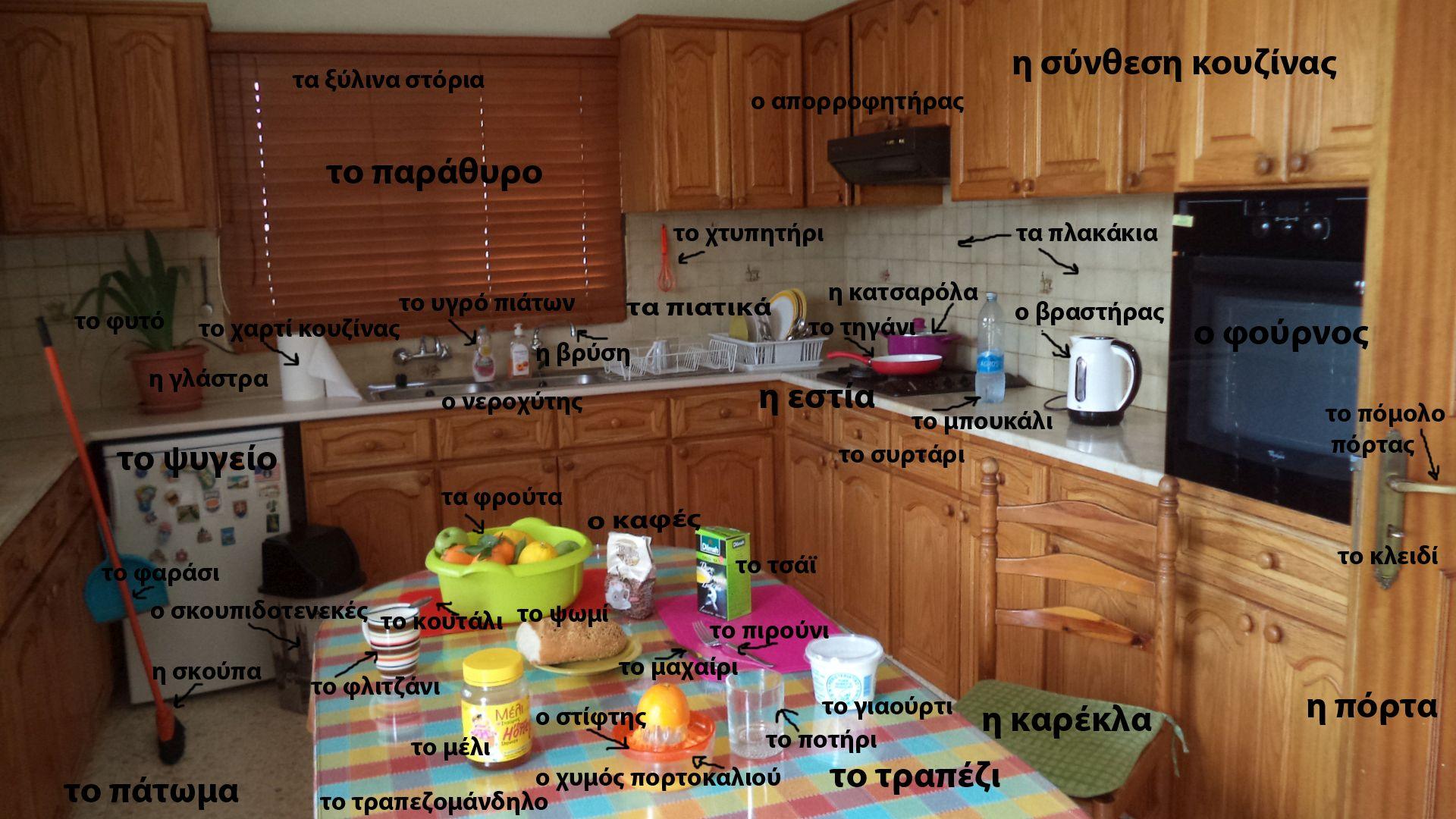 Русско-греческий словарь - Кухня