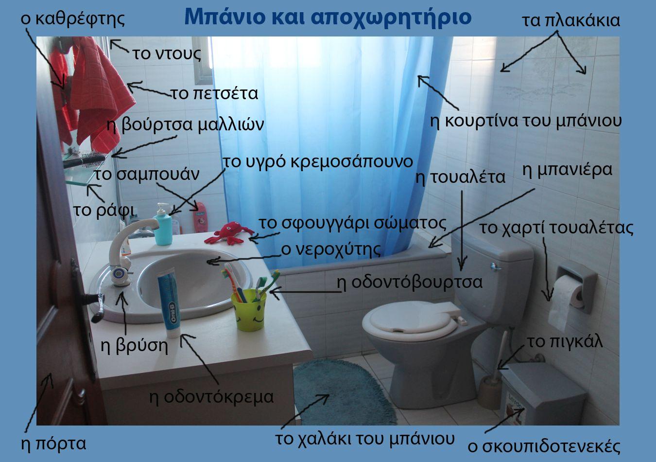 Русско-греческий словарь - Ванная и туалет