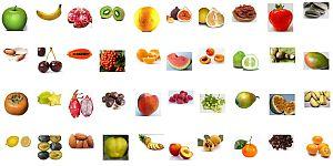 Распечатать картинку Фрукты, ягоды и орехи