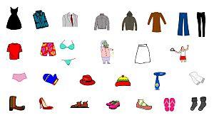 Распечатать картинку Одежда и обувь