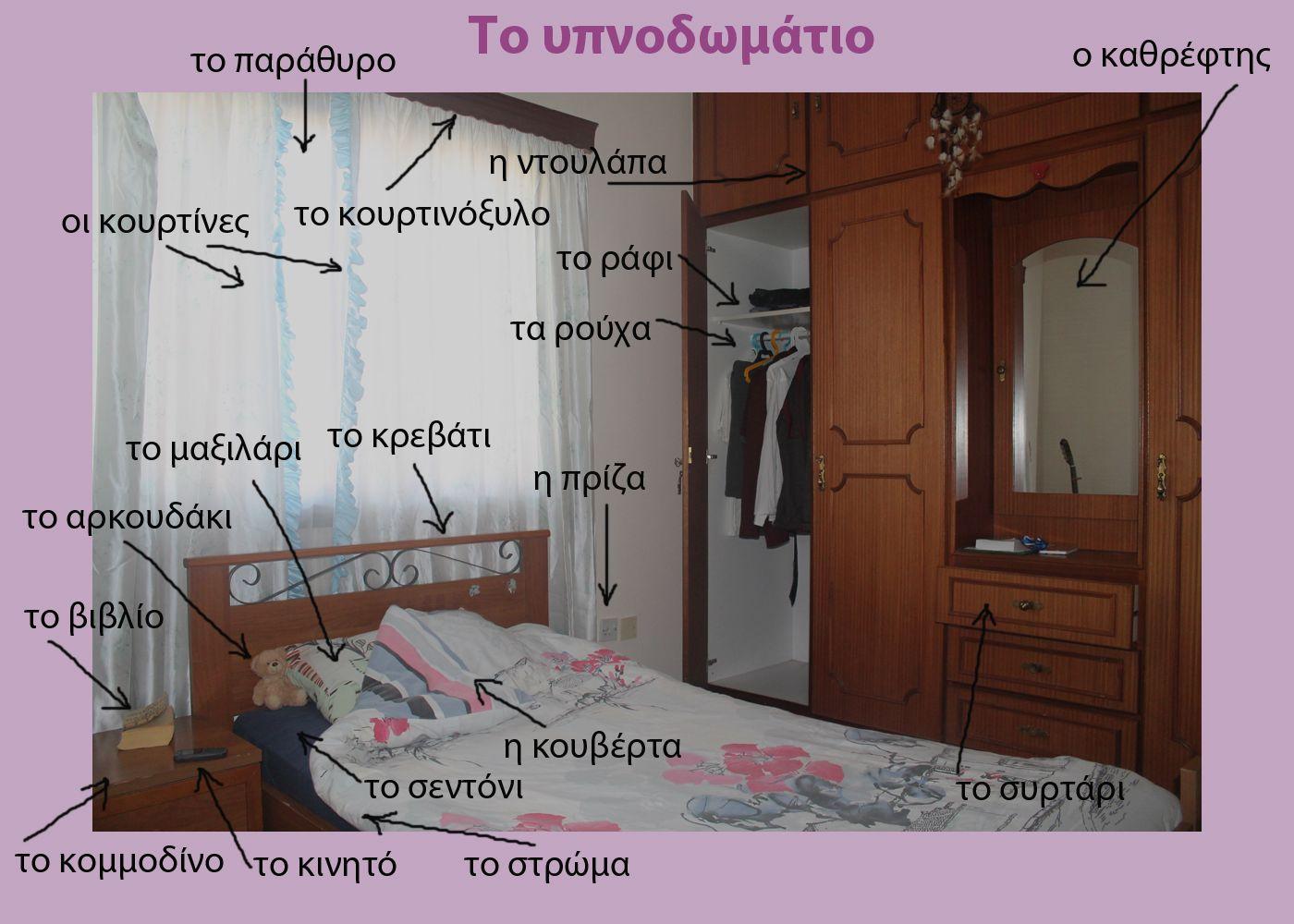 Русско-греческий словарь - Спальня