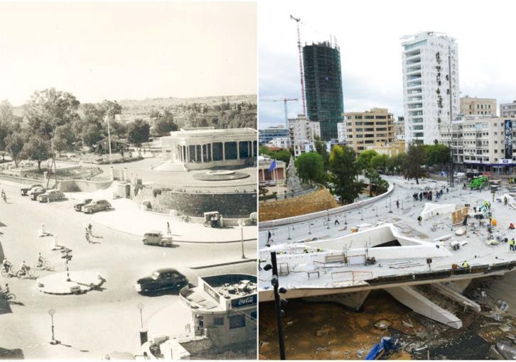 Площадь Свободы (Элефтериас) Никосия колониальный период и 2018