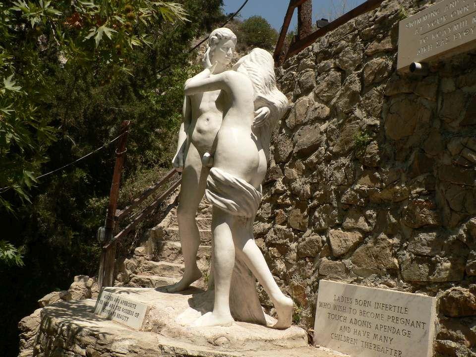 скульптура Адонис и Афродита, Бани Адониса, Пафос, Кипр