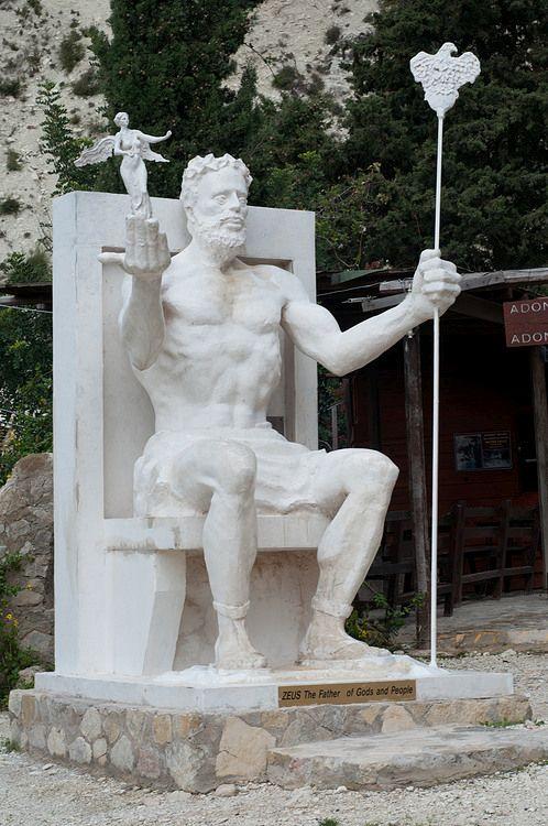 скульптура Зевса, Бани Адониса, Пафос, Кипр