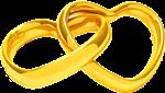 Обручальное кольцо сердца