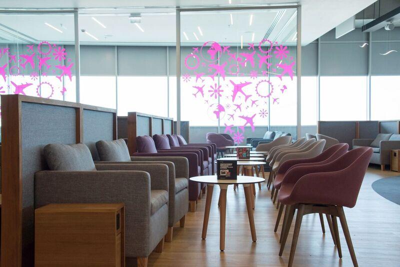 Кафе в Lounge Aspire бизнес-класса в аэропорту Ларнака