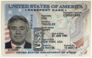 Карточка-паспорт id гражданина США